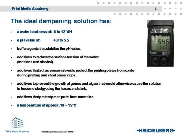 Dampening solution